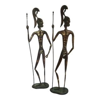 Weinberg Style Bronze Roman Warriors - A Pair For Sale