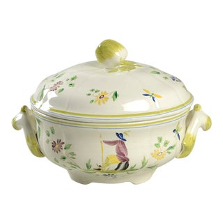 Vintage Longchamp Moustiers Round Covered Server For Sale