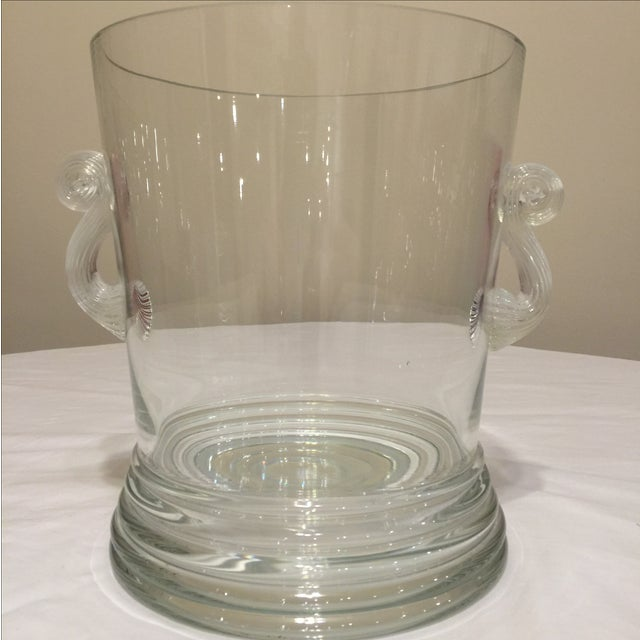 Glass Vase Round With Handles - Image 2 of 10