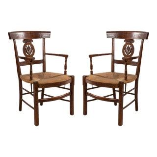 French Provincial Fruitwood Arm Chairs For Sale
