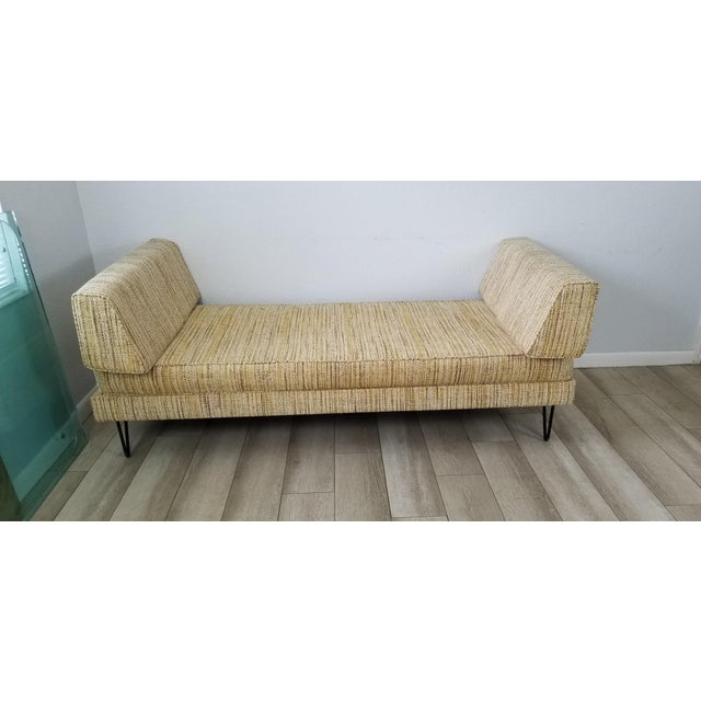 Mid-Century Modern George Nelson for Herman Miller Convertible Daybed Sofa With Hairpin Legs . For Sale - Image 3 of 13