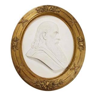 "Margaret Foley Marble Bust ""Head of Prophet Zephaniah"" 1865 For Sale"