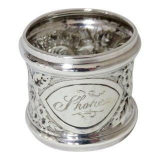 Antique Gorham Sterling Silver Napkin Ring For Sale
