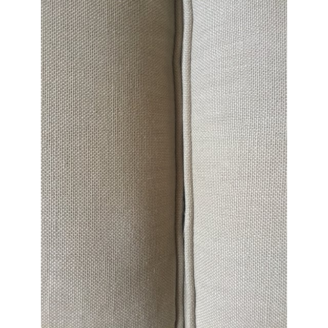 2010s Lee Industries Taupe Linen Sofa For Sale - Image 5 of 8