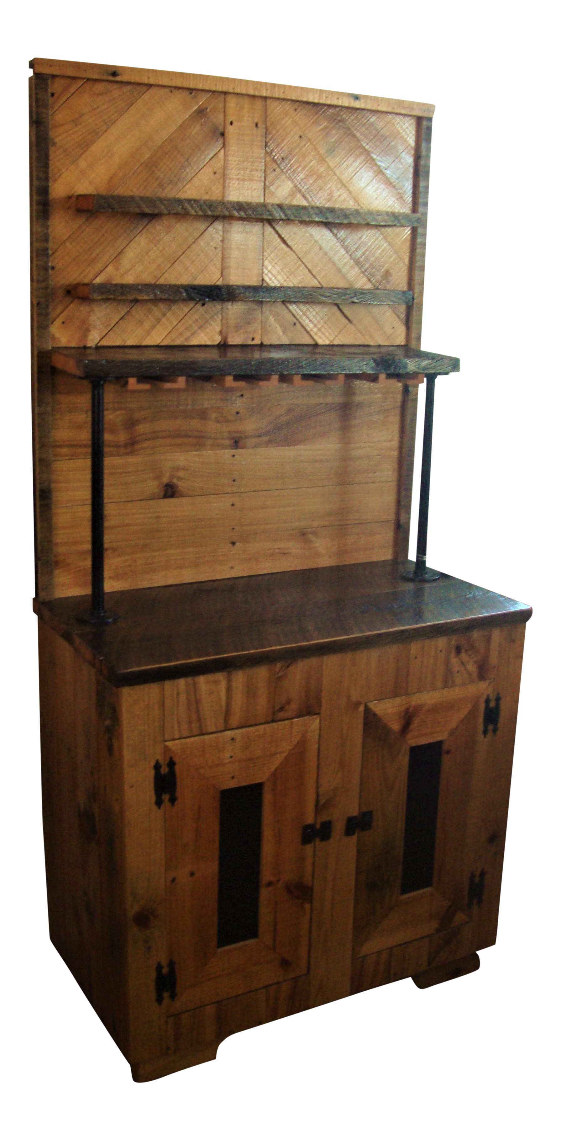 Captivating Hand Made Reclaimed Wood Bar Cabinet