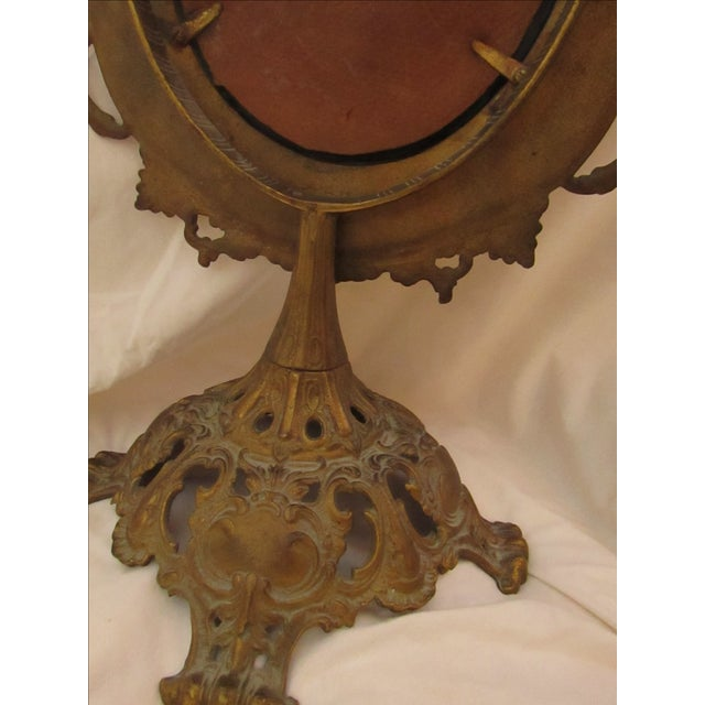 Antique Bronze Frame Swivel Mirror - Image 5 of 5