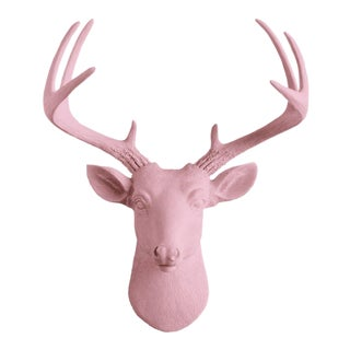 Wall Charmers Pink Faux Taxidermy Mini Deer Head Mount
