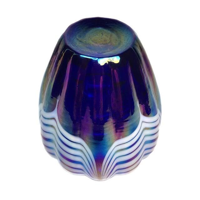 Blue Art Glass Perfume Bottle - Image 4 of 5