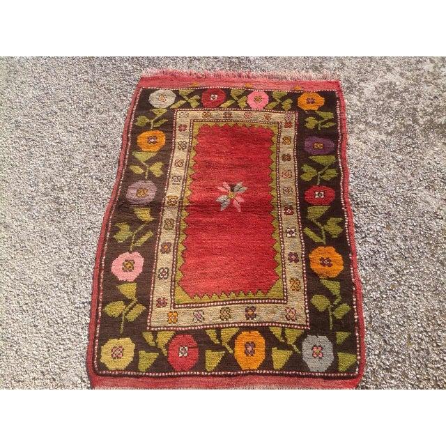 "Islamic Vintage Anatolian Rug - 2'5"" x 3'3"" For Sale - Image 3 of 6"