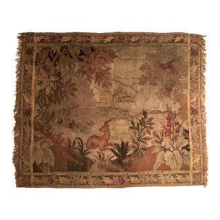 18th Century Flemish Verdure Scenic Landscape Tapestry For Sale