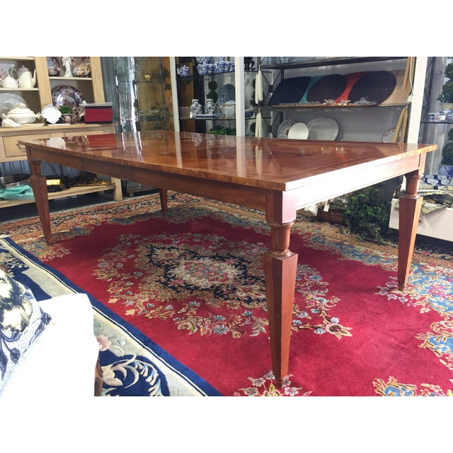 Vintage Baker Walnut Dining Table - Image 3 of 8