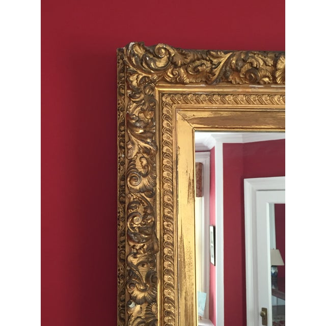 19th Century Grand Carved Gesso Frame Mirror - Image 3 of 5