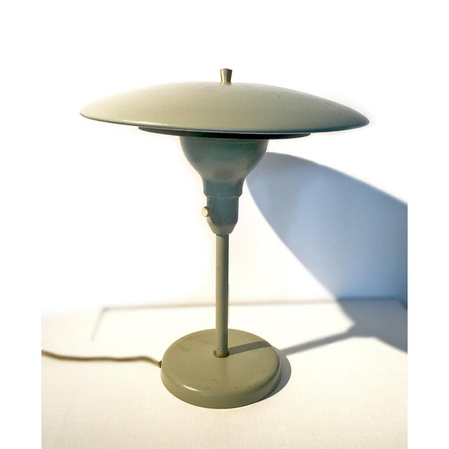 Mid-Century Flying Saucer Table Lamp - Image 3 of 8