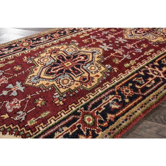 "2010s Modern Indo Serapi Rug, 2'7"" X 8'4"" For Sale - Image 5 of 8"