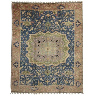"20th Century Turkish Oushak Rug - 10'6"" X 13' For Sale"
