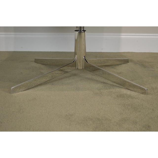 Bernhardt Monica Forster for Bernhardt Chrome Base Swivel Vika Lounge Chair For Sale - Image 4 of 13