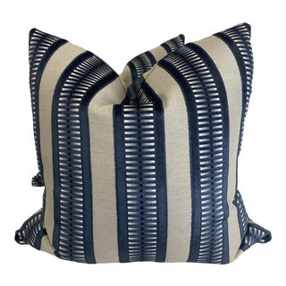 """Kravet """"Street Style-Ink"""" 22"""" Pillows-A Pair For Sale"""