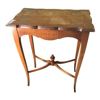Art Deco Painting Flip Top Desk / Side Table For Sale
