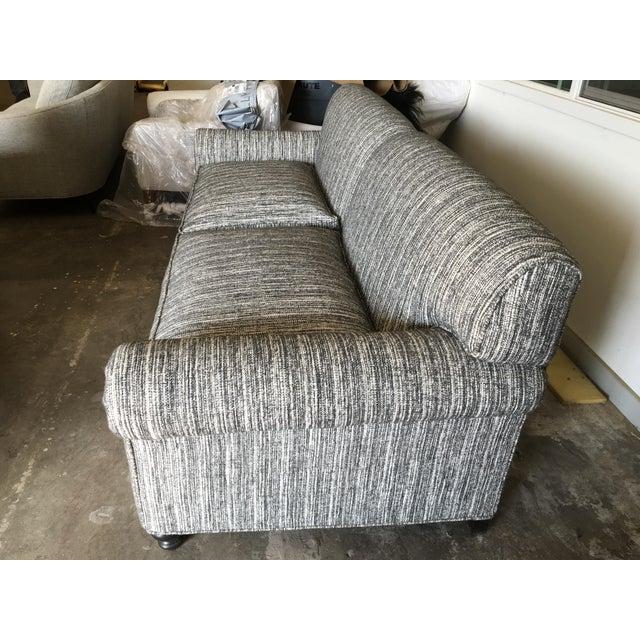Custom Italian Wool Tweed Sofa For Sale - Image 4 of 4