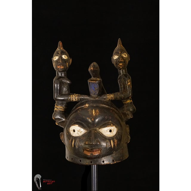 Yoruba African Tribal Helmet Mask - Image 3 of 10