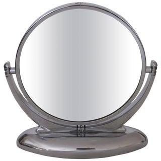 Chrome Art Deco Vanity Mirror, 1930s For Sale