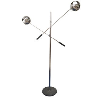 Two-Armed Italian Floor Lamp For Sale