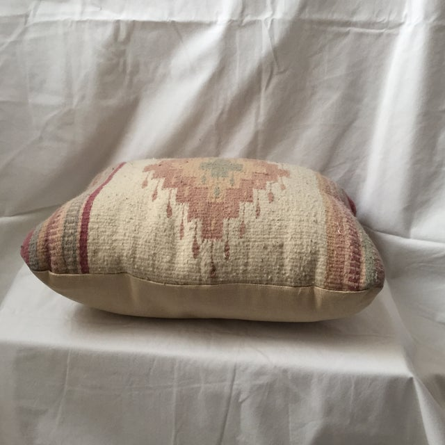 Southwestern Rug Wool & Canvas Pillow - Image 4 of 6