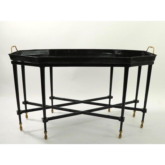 Metal 1950s Italian Tray Top Cocktail Table For Sale - Image 7 of 12