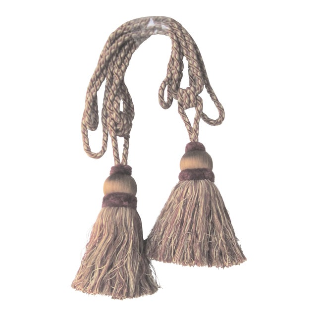 Very Large Single Tassel Tie Backs- A Pair For Sale