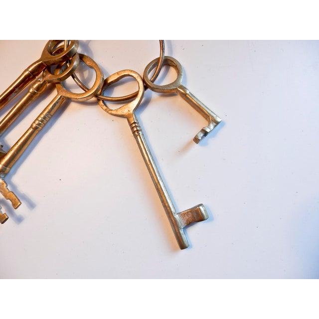 Vintage Brass Skeleton Keys - Image 5 of 9