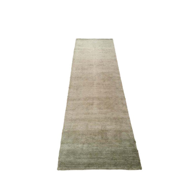 Bamboo Rug Runner: Modern Contemporary Bamboo Silk Hand Made Knotted Runner