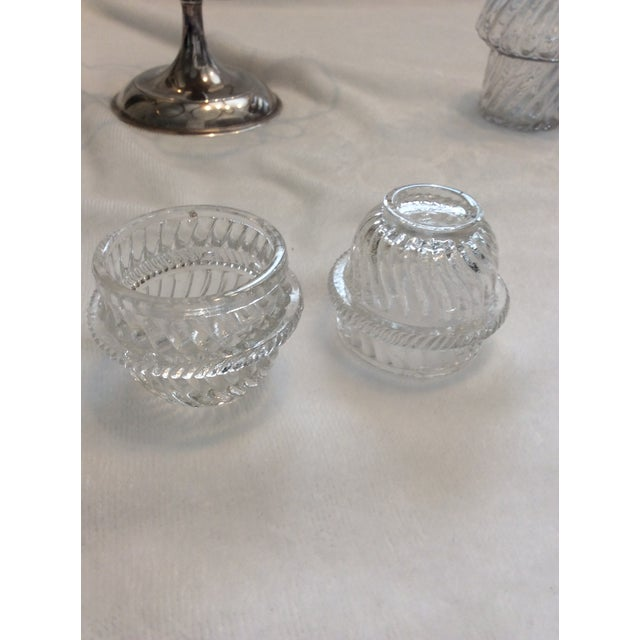 Glass English Cruet Set - Set of 5 For Sale - Image 5 of 8