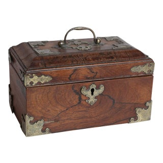 Ornate Rosewood Box For Sale