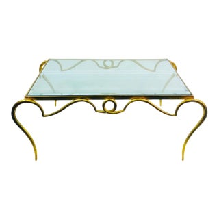 Rene Prou Gilt Iron Coffee Table For Sale