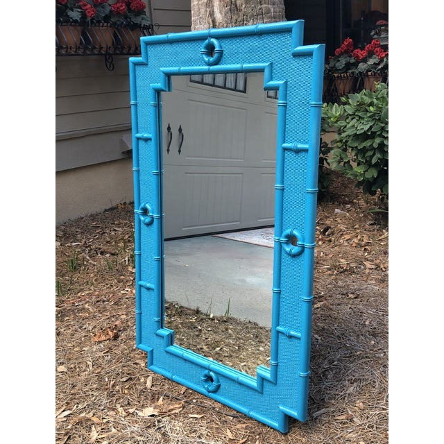 Vintage Faux Bamboo Mirror For Sale - Image 10 of 11