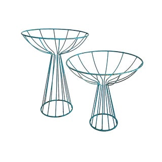 MCM Wire Plant Stands, Pair For Sale