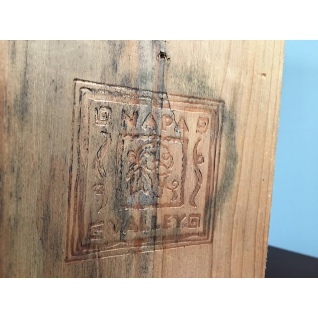 20th Century Country Napa Valley Wooden Wine Crate For Sale - Image 6 of 8