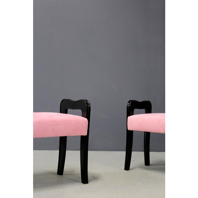 Paolo Buffa Pair of MidCentury Italian Stools Attributed to Paolo Buffa, 1950s For Sale - Image 4 of 10
