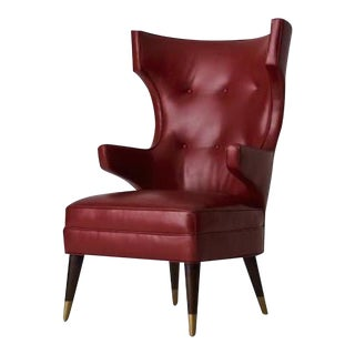 Studio Van den akker Padrino Wingback Club Chair For Sale