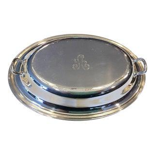 Vintage Gorham Silver Plated Monogram Serving Dish
