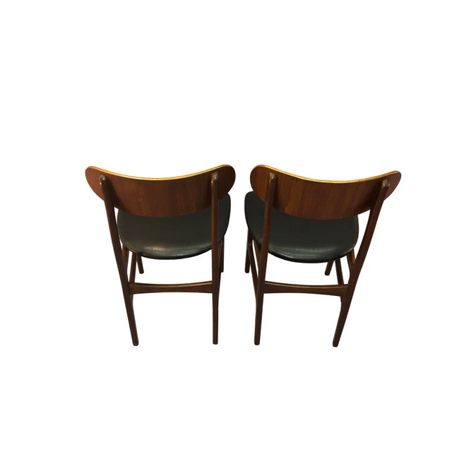 Brown Danish Teak Round Back Dining Chairs - Set of 6 For Sale - Image 8 of 13