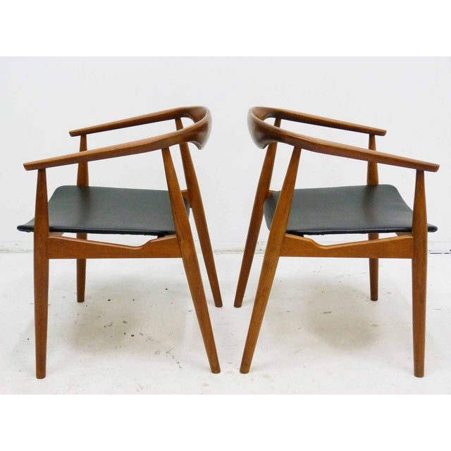 Danish Barrel Teak Armchairs - A Pair - Image 6 of 10