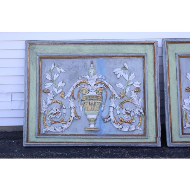 Mid-Century Modern Late 18th Century Swedish Neoclassic Gustavian Wall Panels- A Pair For Sale - Image 3 of 12