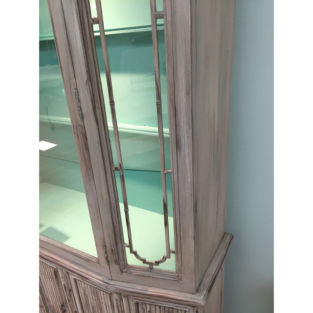Gray Mid-Century China Cabinet Hutch - Image 7 of 11