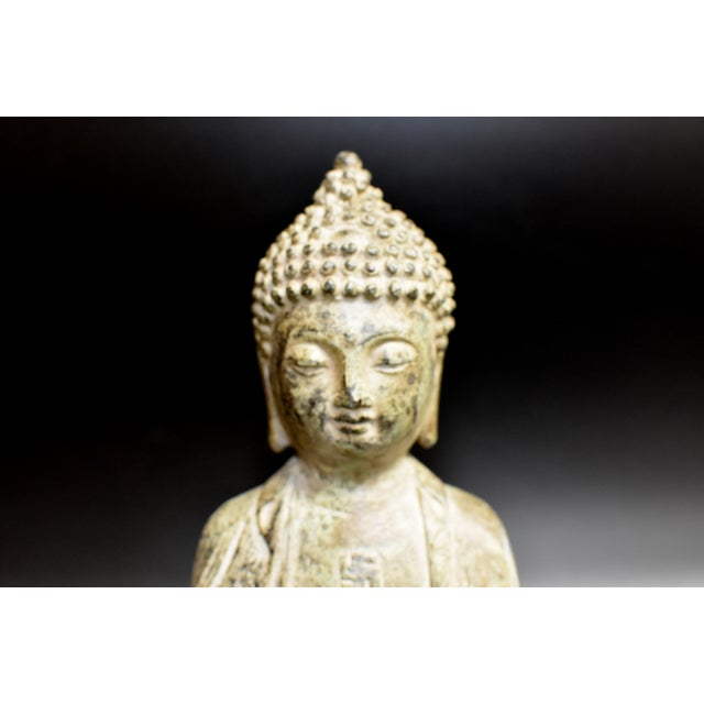 19th Century Antique Bronze Buddha Statue For Sale In Los Angeles - Image 6 of 13