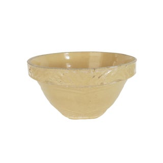 Antique Yellow Stoneware Crock Bowl For Sale