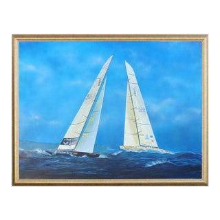 Contemporary Nautical Painting by Argentine Artist Gabriel Duarte For Sale