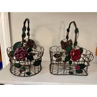 Vintage 1960s Tole Baskets, Pair Preview