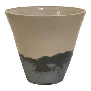 Contemporary Stoneware Ceramic Vase For Sale