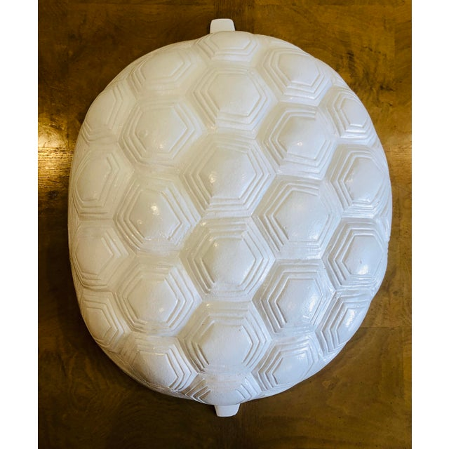X White Modern Metal Turtle Shell Wall Hanging For Sale - Image 4 of 4